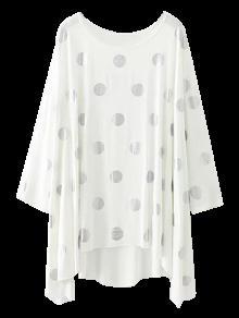Baggy Polka Dot Blouse - White L