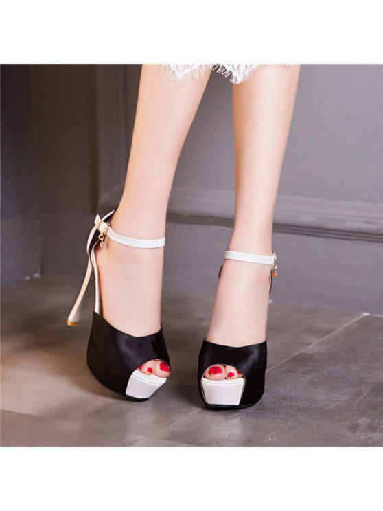 Sandals Toe Platform Peep - Preto 39