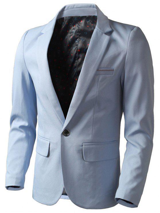 طية صدر السترة رفرف جيب السترة - الضوء الأزرق 4XL