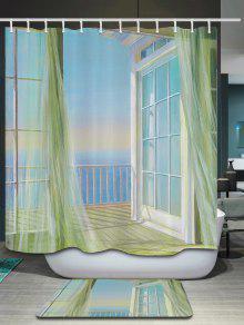 Bath Decor Balcony Seascape Shower Curtain