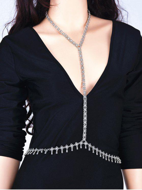 online Alloy Flower Vintage Body Chain - SILVER