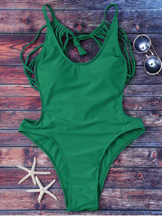 Strappy ثونغ ملابس سباحة - أخضر S