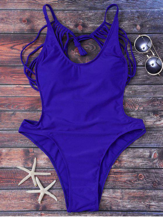 Strappy ثونغ ملابس سباحة - أزرق L