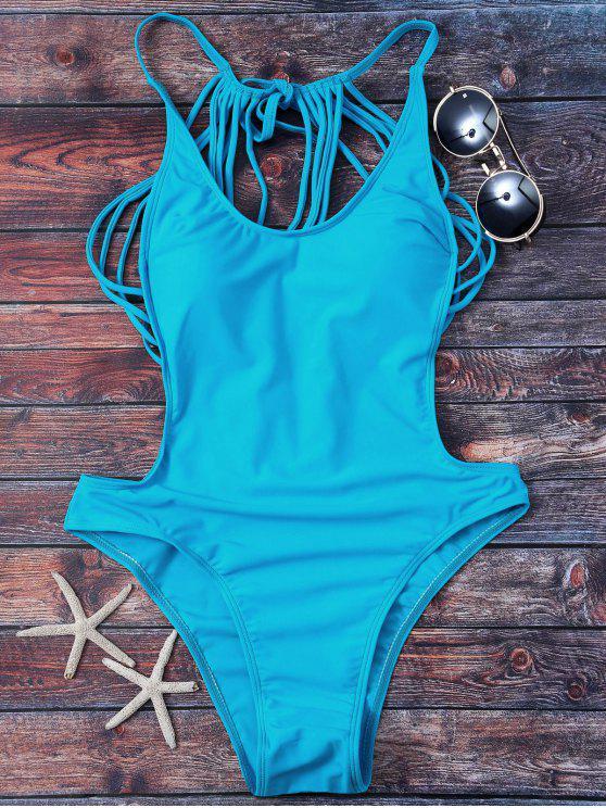 Bañador de Tiras con Thong - Lago Azul M
