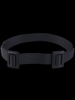 Plain Double Buckle Coat Belt - Black
