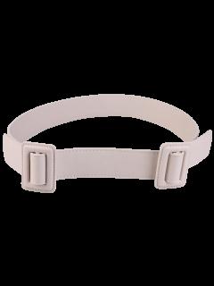 Plain Double Buckle Coat Belt - Off-white