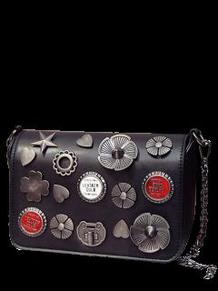 Insignias De La Aleta Cross Body Bag - Negro
