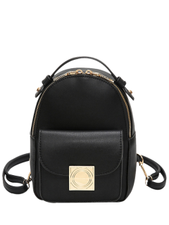 Metal Detal Mini Backpack - Black