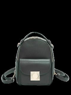 Metal Detal Mini Backpack - Green
