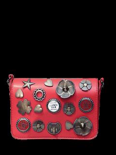 Insignias De La Aleta Cross Body Bag - Rojo