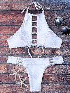 Bikini Dos Nu Découpé En échelle - Blanc S