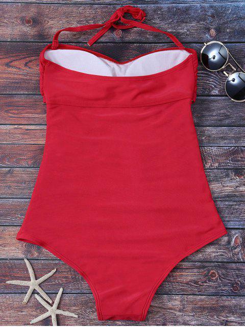 Costume de bain en une pièce découpé dos nu - Rouge L Mobile