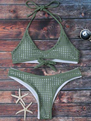 Bikini à Bretelles Et à Filets - Vert Armée L