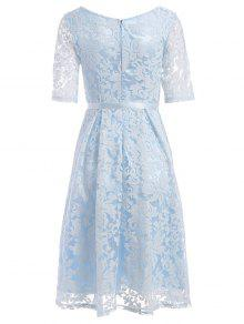 31% OFF  2019 Embroidered Lace Fit And Flare Prom Dress In LIGHT ... 263ebbda5