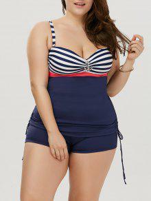شريط مبطن زائد حجم ثوب السباحة - شريط 5xl