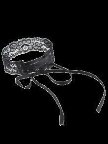 Collar Gargantilla Cordón De La Vendimia De La Flor - Negro