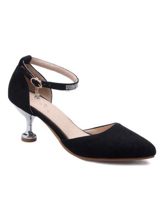 online Stiletto Heel Two-Piece Pumps - BLACK 39