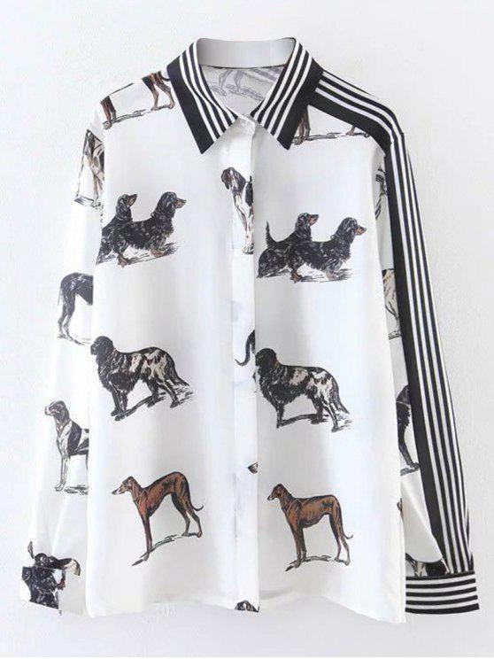 Chemise imprimée de motifs d'animaux - Blanc M