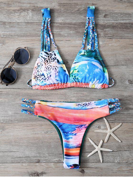 Impreso de cuerda trenzada del bikini - Colormix S