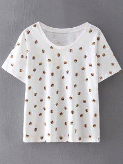 Hamburguesas De Gran Tamaño De Impresión De La Camiseta - Blanco L