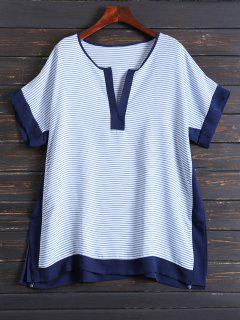 Tunic Striped Cover Up - Blue
