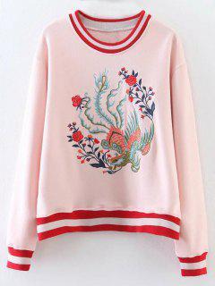 Phoenix Bordó La Camiseta Rayada - Rosado Claro M