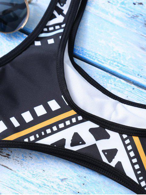 new Geometric Thong One-Piece Swimwear - BLACK M Mobile