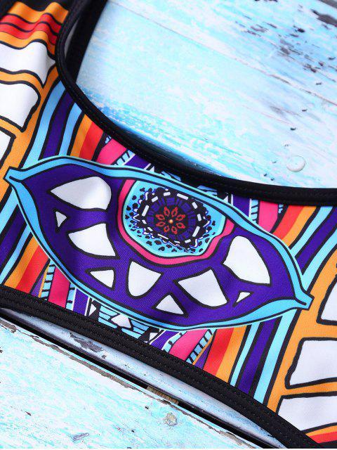 Maillots de bain en une pièce string géométrique - Multicolore S Mobile