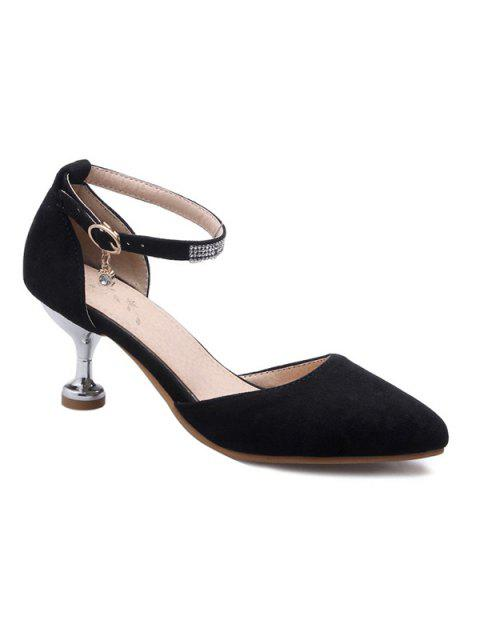 best Stiletto Heel Two-Piece Pumps - BLACK 37 Mobile
