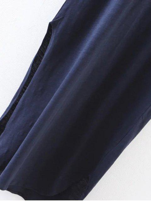 sale Oversized Shift Maxi Dress - PURPLISH BLUE M Mobile