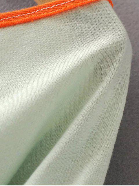 new Color Block Cotton Blend T-Shirt - WHITE L Mobile
