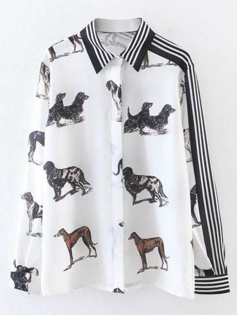 Chemise imprimée de motifs d'animaux - Blanc M Mobile