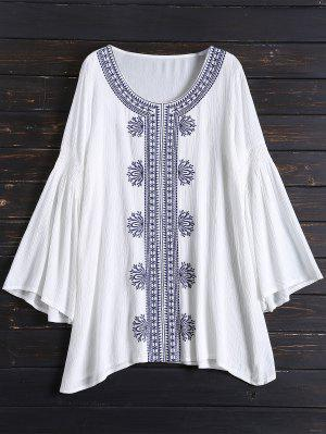 Tunic Embroidered Cover Up - White