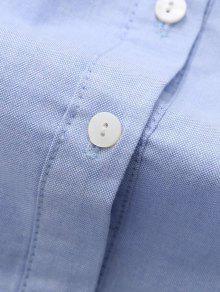 La Bordado Camisa S Claro Azul De Bolsillo Pentagrama wUZt6q