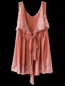 الفستان الطويل بالتطريز بلا أكمام - اتريتات M