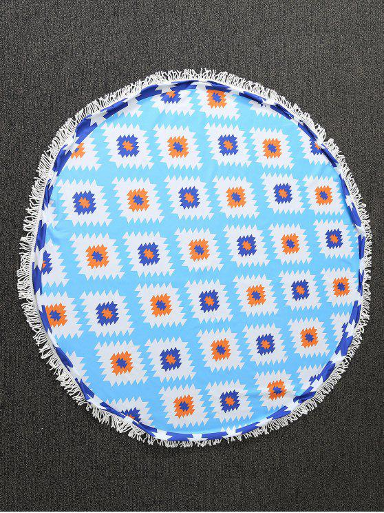 online Geometric Print Tapestry Beach Throw - BLUE ONE SIZE