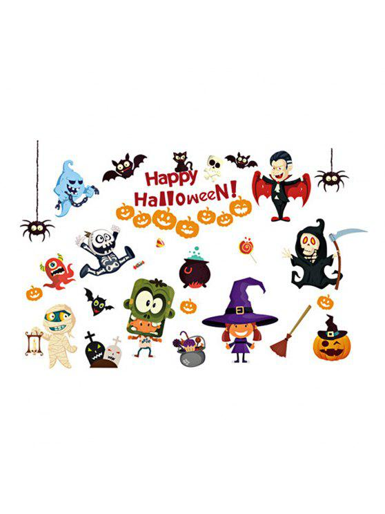 Halloween Cartoon Room Pegatinas Decorativas De Pared Para Niños - COLORIDO