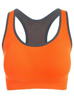 Padded Racerback Sports Bra - Darksalmon S
