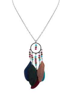 Beads Bohemian Feather Necklace