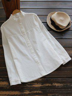 Textura De La Raya De La Colmena Del Soporte De La Camisa De Cuello - Blanco M
