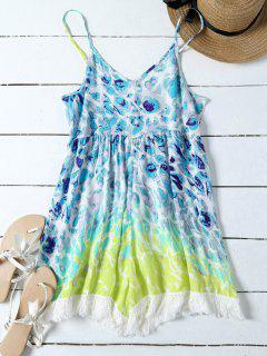 Impreso Cami Beach Playsuit - Multicolor S