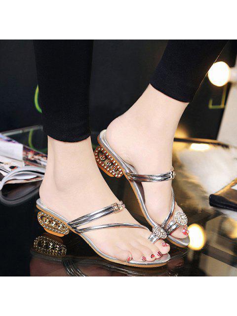 Chaussures en métal de strass en strass - Argent 38 Mobile
