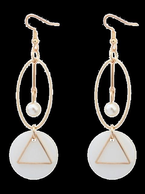 Boucles d'oreilles en gouttes de perles artificielles géométriques - Or  Mobile