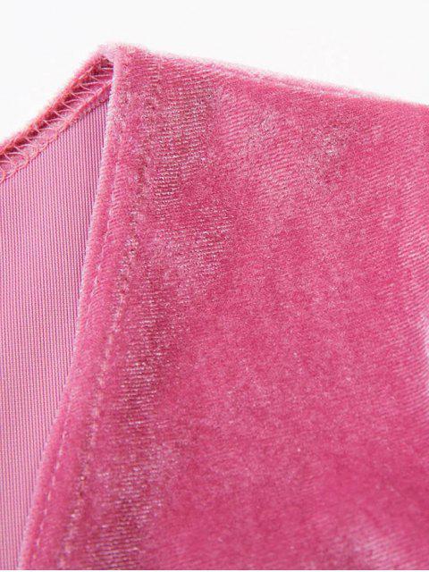 new Bowknot Cut Out Bodysuit - PINK L Mobile