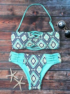 Baldosas De Impresión Tubo Bikini Palabra De Honor - Turquesa M