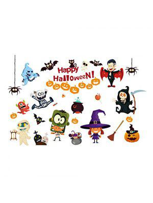 Halloween Cartoon Room Decorative Wall Stickers For Kids Rooms