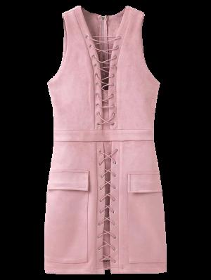 Hasta El Ante Vestido Ajustado De Encaje - Rosa L
