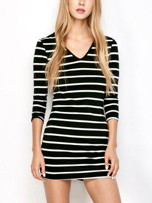 Fitted Striped T-Shirt Dress