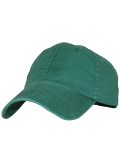 Curved Brim Lucky Baseball Hat - Deep Green