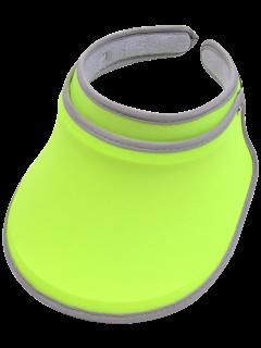 UV Protection Lucky Sweatband Visor - Neon Green